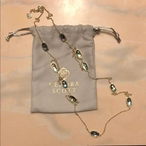 Kendra Scott Long Abalone Necklace